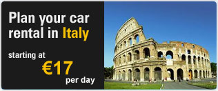 Plan your car rental in Italy