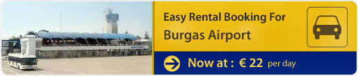 Easy car rental booking for Burgas Airport