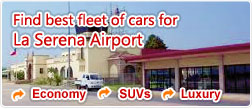 Find best fleet of cars for La Serena Airport