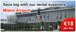 Save big with our car rental suppliers at Miami Airport