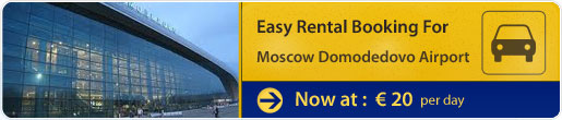 Easy rental booking for Moscow Domodedovo Airport