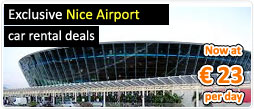 Exclusive Nice Airport car rental deals