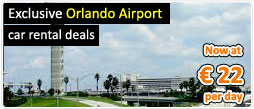 Exclusive Orlando Airport car rental deals