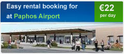 Easy rental booking for Paphos Airport