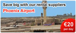Save big with our car rental suppliers at Phoenix Airprort