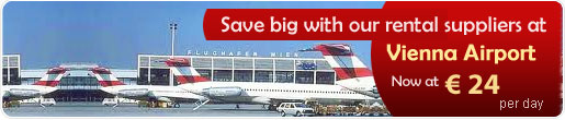 Save big with our car rental suppliers at Vienna Airport